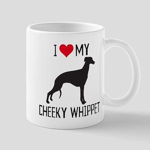 I love my cheeky whippet! Mugs