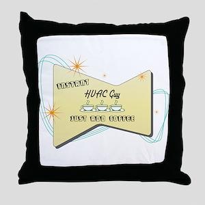 Instant HVAC Guy Throw Pillow