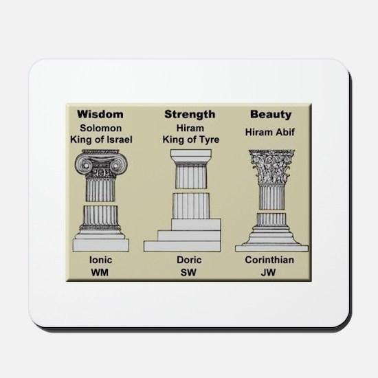 Masonic Pillars Mousepad