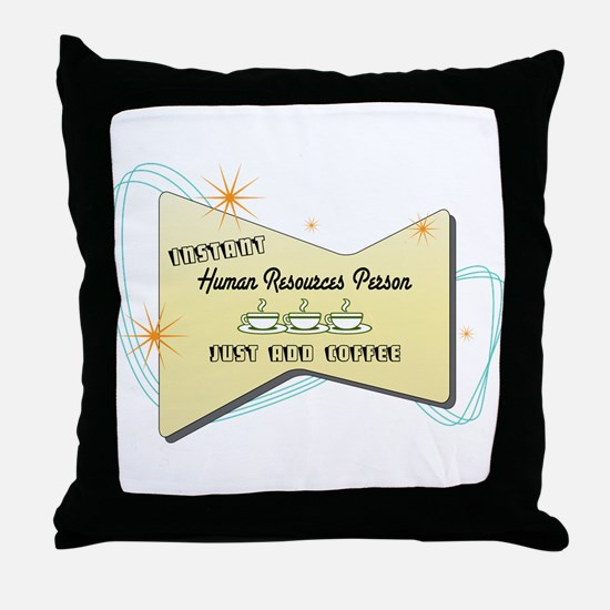 Instant Human Resources Person Throw Pillow