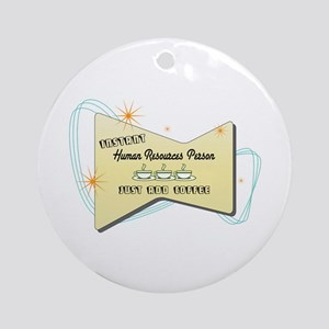Instant Human Resources Person Ornament (Round)