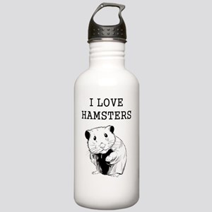 I Love Hamsters Stainless Water Bottle 1.0L