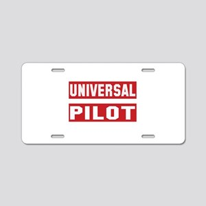 Universal Pilot Aluminum License Plate