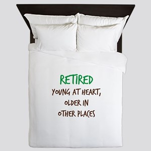 Retired, Young at Heart Queen Duvet
