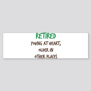 Retired, Young at Heart Bumper Sticker