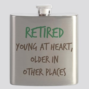 Retired, Young at Heart Flask