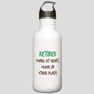 Retired, Young at Heart Water Bottle
