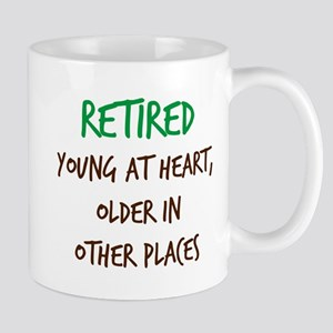 Retired, Young at Heart Mugs