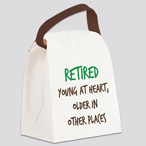 Retired, Young at Heart Canvas Lunch Bag