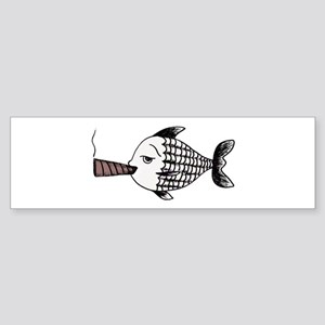 Smoking Fish Bumper Sticker