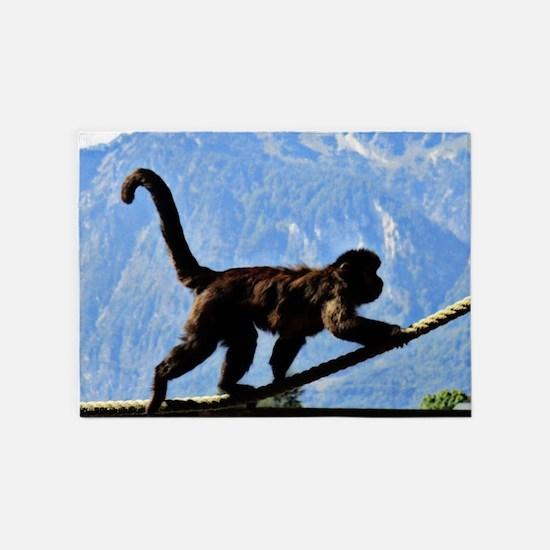 awesome monkey 5'x7'Area Rug