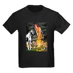 Fairies / Gr Dane (h) Kids Dark T-Shirt