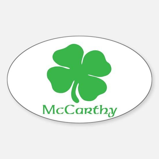 McCarthy (Shamrock) Sticker (Oval)