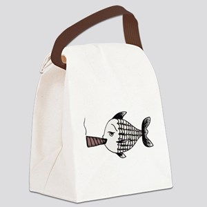 Smoking Fish Canvas Lunch Bag