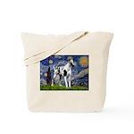 Starry / Gr Dane (h) Tote Bag