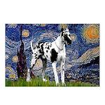 Starry / Gr Dane (h) Postcards (Package of 8)