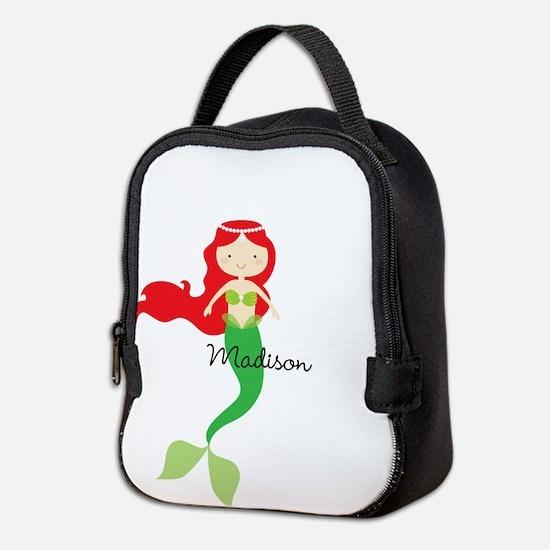 Personalized Mermaid Neoprene Lunch Bag