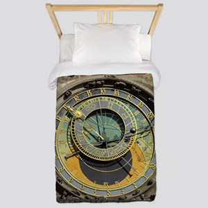 Prague Astronomical Clock Tower in Old Twin Duvet