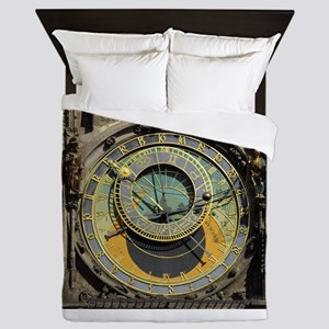 Prague Astronomical Clock Tower in Old Queen Duvet
