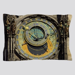 Prague Astronomical Clock Tower in Old Pillow Case