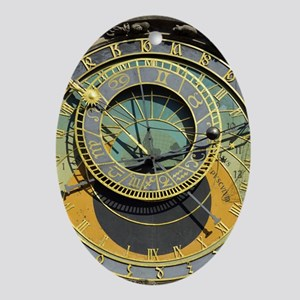 Prague Astronomical Clock Tower in O Oval Ornament