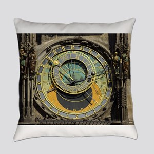 Prague Astronomical Clock Tower in Everyday Pillow