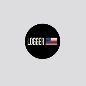 Logger: Logger & American Flag Mini Button