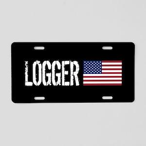 Logger: Logger & American F Aluminum License Plate