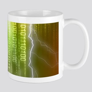 Binary Rain Lightning Mug