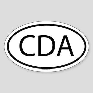 CDA Oval Sticker