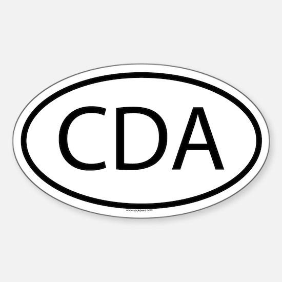 CDA Oval Decal