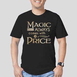 Magic Comes with a Pri Men's Fitted T-Shirt (dark)