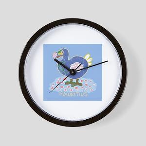 Colorful dodo Wall Clock