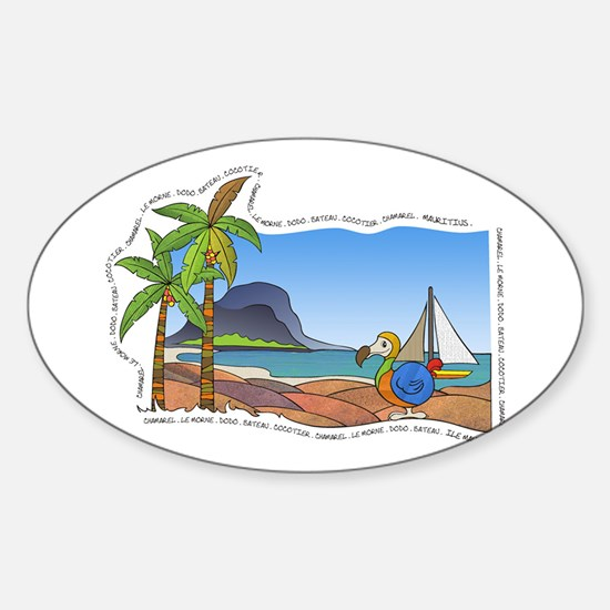 Vacation Oval Decal