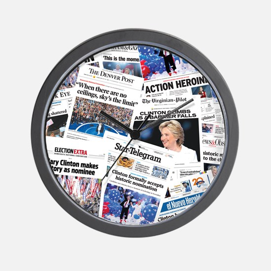 Hillary 2016 Nomination Front Page Collage Wall Cl
