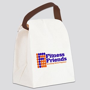 Fitness Friends Blue and Orange Canvas Lunch Bag