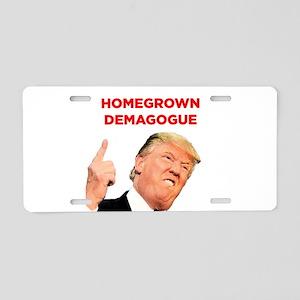 Donald Trump: Homegrown Demagogue Aluminum License