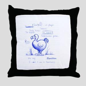Dodo broullion Throw Pillow