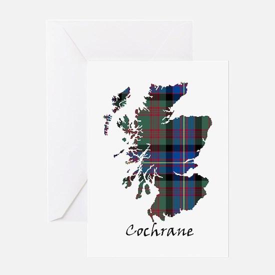 Map - Cochrane Greeting Card