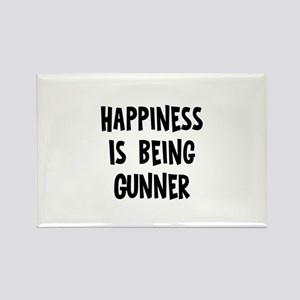 Happiness is being Gunner Rectangle Magnet