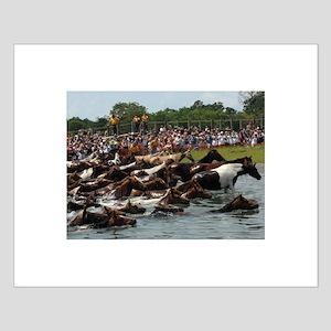 Chincoteague Island Pony Swim Small Poster