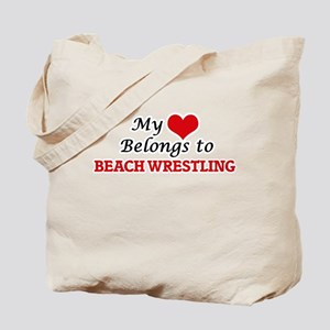 My heart belongs to Beach Wrestling Tote Bag
