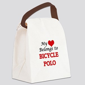 My heart belongs to Bicycle Polo Canvas Lunch Bag