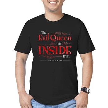 The Evil Queen is Inside Me Men's Dark Fitted T-Shirt