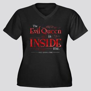 The Evil Que Women's Plus Size V-Neck Dark T-Shirt