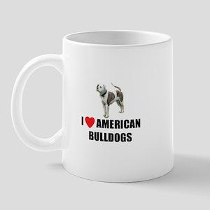 I Love American Bulldogs Mug