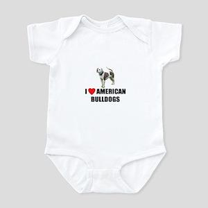 I Love American Bulldogs Infant Bodysuit