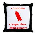 Condoms, cheaper than child s Throw Pillow