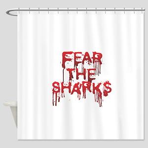 Fear the Sharks - Shark Shower Curtain