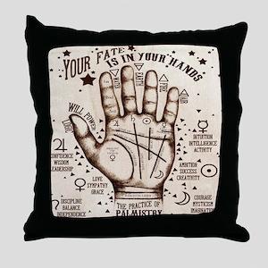 Vintage Palmistry Throw Pillow